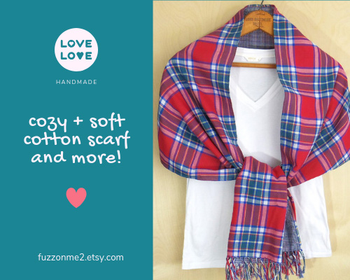 fuzzonme 2 etsy store handmade double gauze cotton scarves, hankies and more!